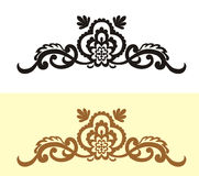 Floral vintage style. Vintage border brown color design idea concept illustration Royalty Free Stock Photography
