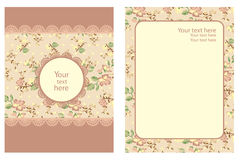 Floral Vintage Template Stock Photos