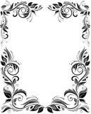 Floral vintage template. Template with vintage floral design vector illustration