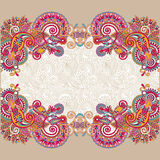 Floral vintage template with place for your text Royalty Free Stock Photography
