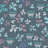 Floral vintage vector ornamental pattern fabric Royalty Free Stock Photos