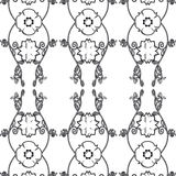 Floral Vintage Wallpaper. Vector illustration of a black and white vintage seamless pattern wallpaper Royalty Free Illustration