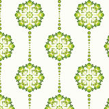 Floral Vintage Wallpaper. Vector illustration of a green vintage seamless pattern wallpaper. Vector file shows how to easily change color schemes with the Royalty Free Illustration