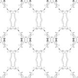 Floral Vintage Wallpaper. Vector illustration of a black and white vintage seamless pattern wallpaper Stock Illustration