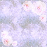 Floral vintage wallpaper with roses. Romantic victorian texture with floral ornaments and roses royalty free stock photos