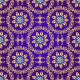 Floral violet seamless pattern Stock Image