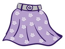 Free Floral Violet Skirt Vector Or Color Illustration Stock Images - 160155914