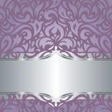 Floral Violet vector wedding vintage background  design Royalty Free Stock Images