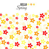 Floral vivid colors hello spring background vector Royalty Free Stock Image