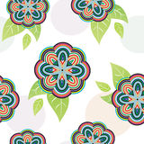 Floral vivid seamless pattern Royalty Free Stock Photo