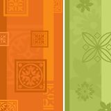 Floral Wallpaper. An illustration a floral wallpaper design for backgrounds Stock Photos