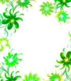 Floral wallpaper. Green floral wallpaper on white background Royalty Free Stock Photo