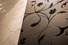 Floral wallpaper. Background pattern in merged black and white stock photos