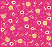 Floral wallpaper. Pink wallpaper design with floral ornaments Stock Images