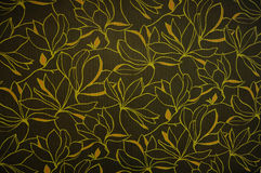 FLORAL WALLPAPER. Wallpaper with floral ornament with leafs and flowers for vintage design Stock Photo