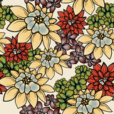 Floral wallpaper Stock Photography