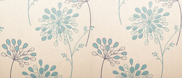 Floral wallpaper. Design with plants Royalty Free Stock Photography