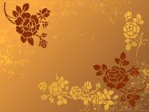 Floral wallpaper. Illustration of vintage floral wallpaper Stock Illustration