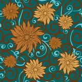 Floral wallpaper royalty free stock photos