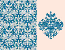 Floral wallpaper royalty free illustration