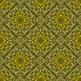 Floral wallpaper. Seamless background from a floral ornament, Fashionable modern wallpaper or textile Stock Photos