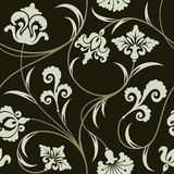 Floral wallpaper. Seamless background from a floral ornament, Fashionable modern wallpaper or textile royalty free illustration