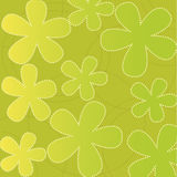 Floral wallpaper. Green abstract floral wallpaper, vector illustration Stock Photography