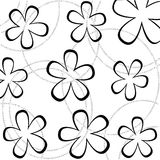 Floral wallpaper. White abstract floral wallpaper, vector illustration Royalty Free Stock Images
