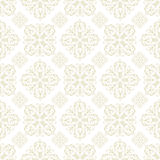 Floral wallpaper beige tile. Beige seamless wallpaper pattern design in brown and white Royalty Free Stock Image