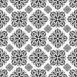 Floral wallpaper black Royalty Free Stock Images