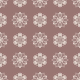 Floral wallpaper. Brown seamless pattern as textile background Stock Photo