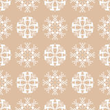 Floral wallpaper. Brown seamless pattern as textile background Stock Photography