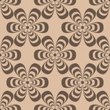 Floral wallpaper. Brown seamless pattern as textile background Royalty Free Stock Images