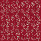 Floral wallpaper on burgundy background Stock Photography