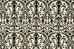 Floral wallpaper design. Seamless retro wallpaper in a floral pattern Stock Image