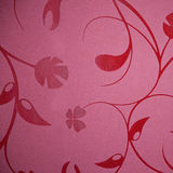 Floral wallpaper design in a self patterned burgundy or purple Stock Photos