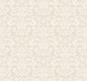 Floral Wallpaper Pattern. Beige seamless vintage floral wallpaper pattern. Vector format Royalty Free Stock Photography
