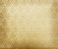 Floral wallpaper pattern light yellow abstract Stock Photo