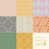 Floral wallpaper pattern set Stock Photography