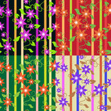 Floral wallpaper, seamless Royalty Free Stock Photo