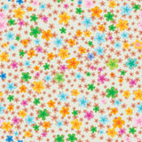 Floral wallpaper seamless texture. Floral wallpaper with color flowers on beige background Stock Photos