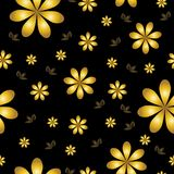 Floral wallpaper with set of different flowers. Stock Image