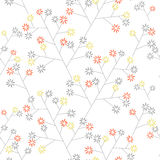 Floral wallpaper. Small funny florets seamless background stock illustration