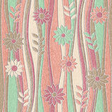 Floral wallpaper - waves decoration - seamless background Royalty Free Stock Photo