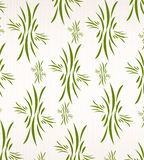 Floral wallpaper on white fabric