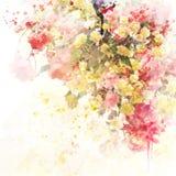 Floral υπόβαθρο Watercolor Στοκ Εικόνα