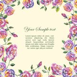 Floral watercolor border Royalty Free Stock Photos