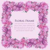 Floral watercolor border Royalty Free Stock Photography