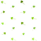 Floral watercolor clover pattern Royalty Free Stock Photo