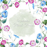 Floral watercolor frame Royalty Free Stock Photography
